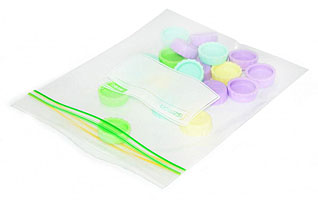 Универсальные пакеты с zip - замком 18 х 20 см / 1.0 л Fissman 0478Кухонные аксессуары<br><br>