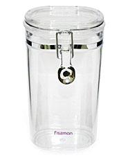 Банка для сыпучих продуктов 10 х 7 x 20 см / 0.75 л Fissman 6789Кухонные аксессуары<br><br>