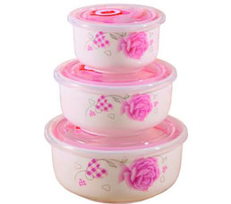 Набор керамических пищевых контейнеров Irit IRH-321CХранение продуктов<br><br>