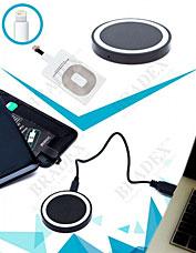 Аккумулятор беспроводной круглый для смартфонов с Lightning разъемом, черный Bradex SU 0050Электроника<br><br>