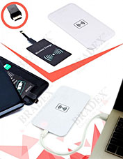 Аккумулятор беспроводной плоский для смартфонов с Micro USB разъемом, белый Bradex SU 0051Электроника<br><br>