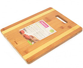 Разделочная доска прямоугольная 33 x 25 x 1,5 см Fissman 8782Ножи и столовые приборы<br><br>