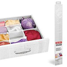 Разделители для ящиков универсальные, 60x8 см, DRAWER ORGANIZER, белый, Valiant ORG-3WТовары для гардероба<br><br>
