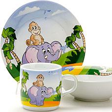 Набор посуды детский Loraine LR-25600, 3пр СлоникСервировка стола<br><br>