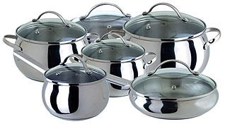 Набор посуды из нержавеющей стали Regent inox 93-B-12 12 предметовПосуда<br><br>