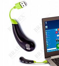 Разветвитель USB hub Баклажан, темно-фиолетовый Bradex SU 0041Электроника<br><br>