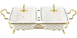Двойной мармит Bekker BK-7375 керамическийСервировка стола<br><br>