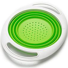Дуршлаг силиконовый Mayer&amp;Boch MB-24638-1, зелёный, 27x21смРазное<br><br>