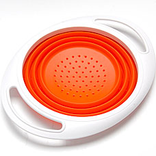 Дуршлаг силиконовый Mayer&amp;Boch MB-24638, оранжевый, 27x21смРазное<br><br>