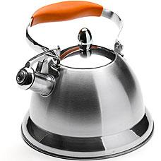 Чайник металлический Mayer&amp;Boch MB-23206, оранжевый, 3л, свистокЧайники<br><br>