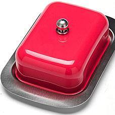 Масленка Mayer&amp;Boch MB-21378-2, малиновый, 3прСервировка стола<br><br>