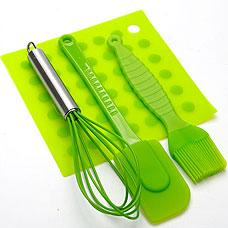 Кулинарный набор силиконовый Mayer&amp;Boch MB-4484-3, зелёный, 4прРазное<br><br>