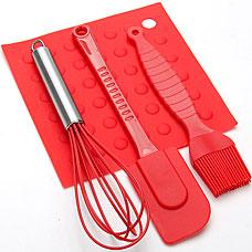 Кулинарный набор силиконовый Mayer&amp;Boch MB-4484-1, красный, 4прРазное<br><br>