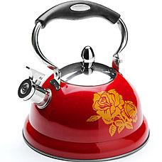 Чайник металлический Mayer&amp;Boch MB-22417-1, красный, 2.6л, свистокЧайники<br><br>