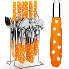 Набор столовых приборов Mayer&amp;Boch MB-22490-4, оранжевый, 25прСтоловые приборы<br><br>