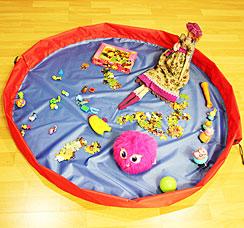 Сумка-коврик для игрушек Toy Bag диаметр 150 см сине-красный 11009хранение вещей и игрушек<br><br>