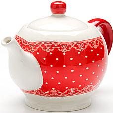 Заварочный чайник Loraine LR-25819, Красный Узор, 0.95лЗаварочные чайники<br><br>