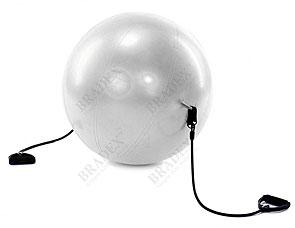 Мяч для фитнеса Фитбол-65 с эспандерами Bradex SF 0216Товары для фитнеса<br><br>