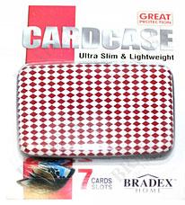 Кошелек алюминиевый Мультикард Bradex TD 0457 красный ромбПолезные вещи для дома<br><br>