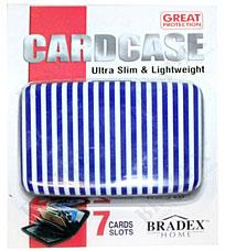 Кошелек алюминиевый Мультикард Bradex TD 0459 синяя полоскаПолезные вещи для дома<br><br>