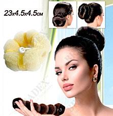 Валик для волос для создания прически Пучок блонд, 23х4,5х4,5см Bradex KZ 0360Заколки для волос<br><br>
