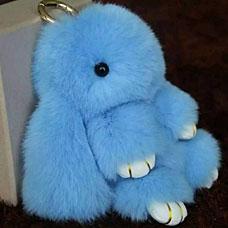 Брелок Меховой Кролик 19 см голубой 11026Сувениры<br><br>