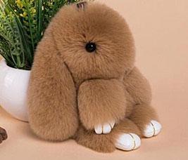 Брелок Меховой Кролик 19 см коричневый 11025Сувениры<br><br>