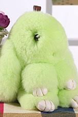 Брелок Меховой Кролик 19 см салатовый 11032Сувениры<br><br>