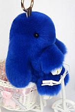 Брелок Меховой Кролик 19 см синий 11040Сувениры<br><br>
