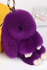 Брелок Меховой Кролик 19 см фиолетовый 11039Сувениры<br><br>