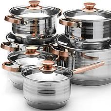Набор посуды Mayer&amp;Boch MB-26042, 12пр 2,1+2,1+2,9+2,9+3,9+6,6лПосуда<br><br>