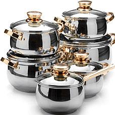 Набор посуды Mayer&amp;Boch MB-26041, 12пр 2,1+2,1+2,9+2,9+3,9+6,6лПосуда<br><br>