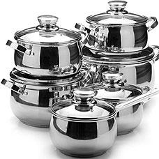 Набор посуды Mayer&amp;Boch MB-26039, 12пр 2,1+2,1+2,9+3,9+6,6+3,4лПосуда<br><br>