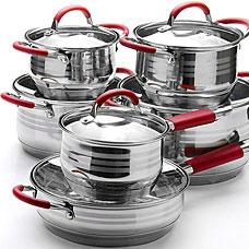 Набор посуды Mayer&amp;Boch MB-26038, 12пр 2,1+2,1+2,9+3,9+6,6+3,4лПосуда<br><br>