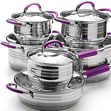 Набор посуды Mayer&amp;Boch MB-26037, 12пр 2,1+2,1+2,9+3,9+6,6+3,4лПосуда<br><br>