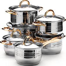 Набор посуды Mayer&amp;Boch MB-25157, 12пр 2,1+2,1+2,9+2,9+3,9+6,6лПосуда<br><br>