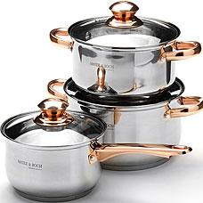 Набор посуды Mayer&amp;Boch MB-25666, 6пр 2,1+2,9+3,9лПосуда<br><br>