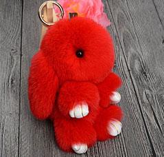 Брелок Меховой Кролик 19 см красный 9113Сувениры<br><br>