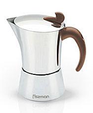 Гейзерная кофеварка на 6 порций / 400 мл Fissman 9414Чайники и термосы<br><br>