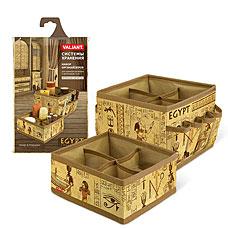 Набор органайзеров для косметики и аксессуаров, 15x15x12 см и 15x15x7 см, EGYPT Valiant EG-S4S4Товары для гардероба<br><br>