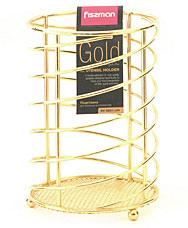 Подставка для кухонных инструментов Gold Fissman 8931Кухонные аксессуары<br><br>