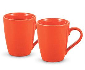 Набор из 2 кружек Оранжевые 300 мл Fissman 9338Чайники и термосы<br><br>