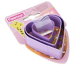 Набор из 3 формочек для вырезания печенья Сердце Fissman 8567Выпечка<br><br>