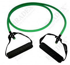 Эспандер трубчатый с ручками, нагрузка до 11 кг, зеленый Bradex SF 0234Товары для фитнеса<br><br>