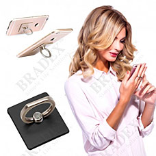 Кольцо-держатель и подставка для телефона и планшета, черное Bradex SU 0056Электроника<br><br>
