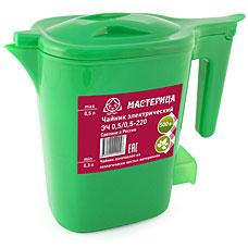 Чайник электрический Мастерица ЭЧ 0,5/0,5-220 зеленыйЧайники и кофеварки<br><br>