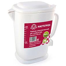 Чайник электрический Мастерица ЭЧ 1,0/0,8-220 белыйЧайники и кофеварки<br><br>