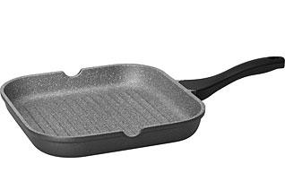 Сковорода-гриль с антипригарным покрытием, 28х28 см Nadoba 728120наплитная посуда и аксессуары<br><br>