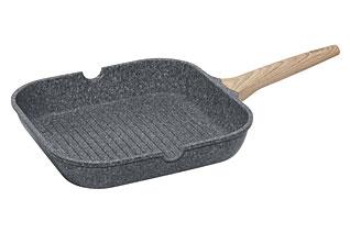 Сковорода-гриль с антипригарным покрытием, 28х28 см Nadoba 728420наплитная посуда и аксессуары<br><br>