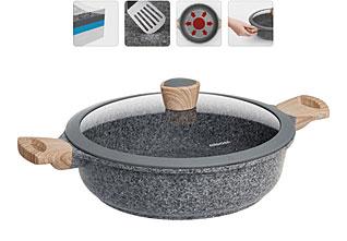 Сотейник с антипригарным покрытием, с крышкой, 28 см Nadoba 728415наплитная посуда и аксессуары<br><br>